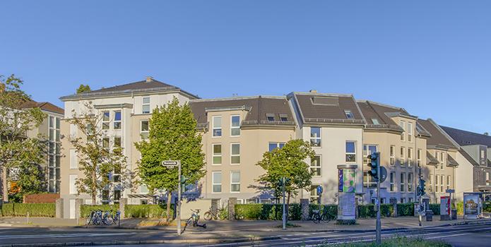 Geförderte Wohnungen in einer Service-Wohnanlage in Düsseldorf-Bilk